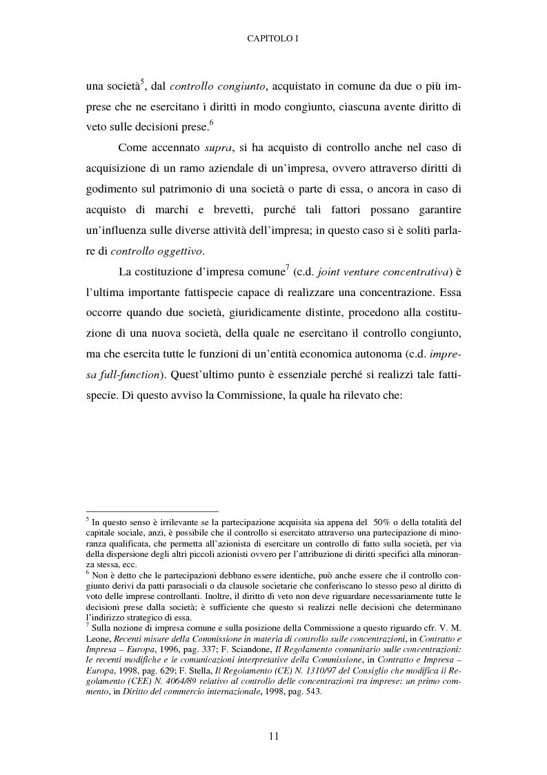 Anteprima della tesi: Evoluzione recente e prospettive di riforma della disciplina comunitaria delle concentrazioni orizzontali, Pagina 5