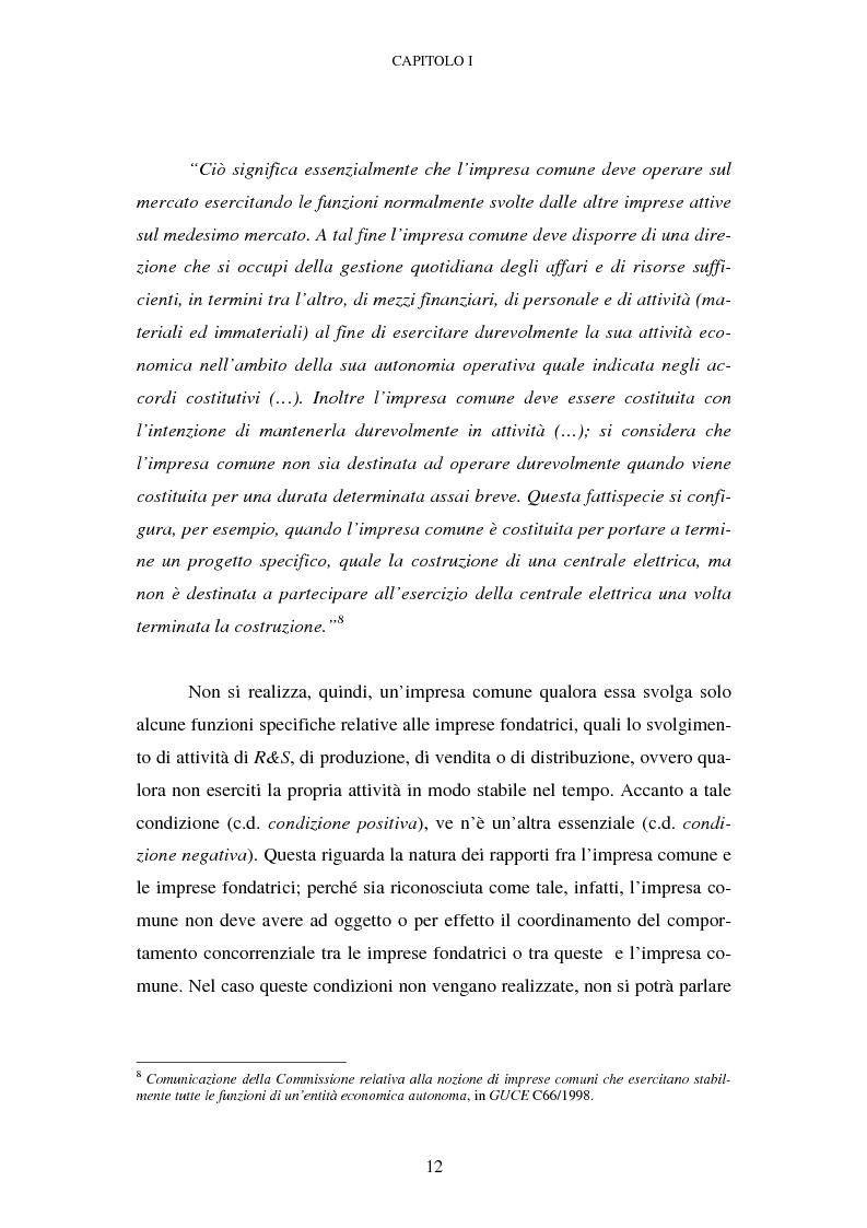 Anteprima della tesi: Evoluzione recente e prospettive di riforma della disciplina comunitaria delle concentrazioni orizzontali, Pagina 6