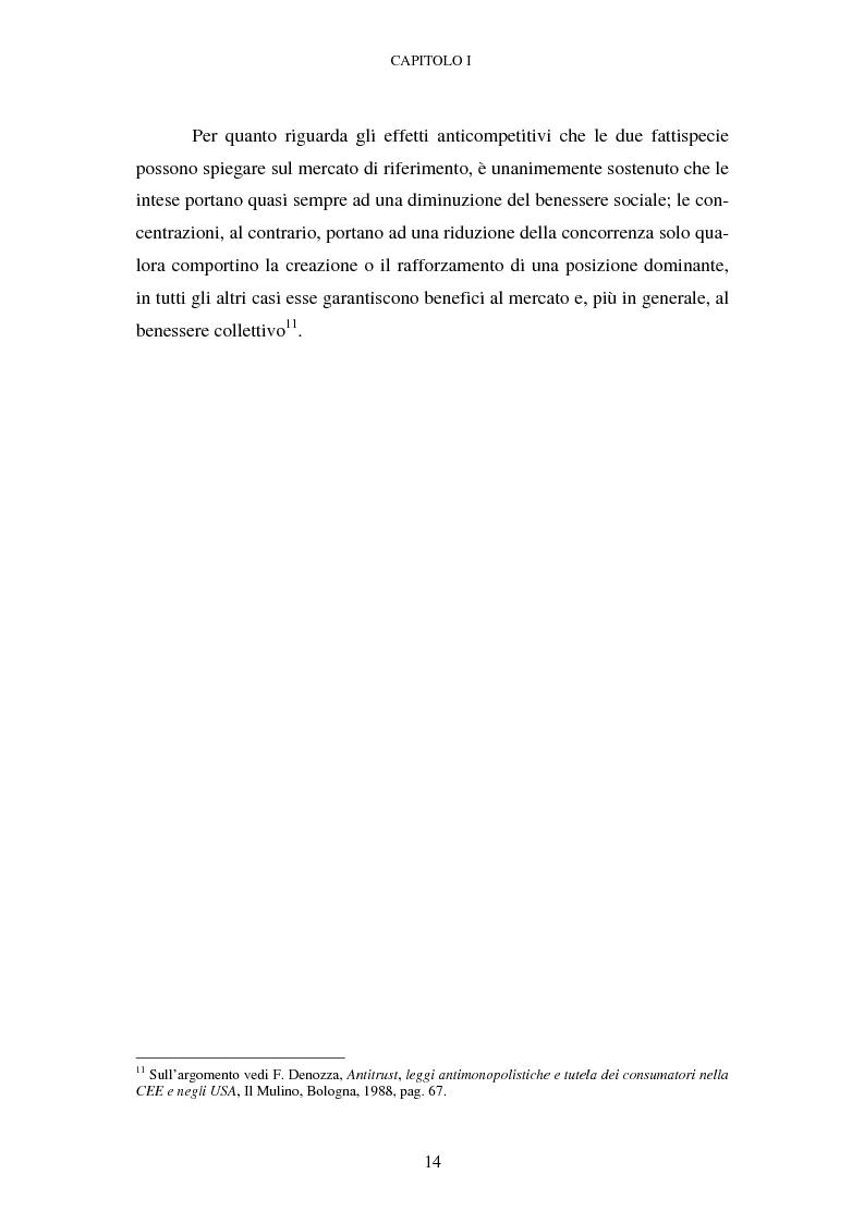 Anteprima della tesi: Evoluzione recente e prospettive di riforma della disciplina comunitaria delle concentrazioni orizzontali, Pagina 8