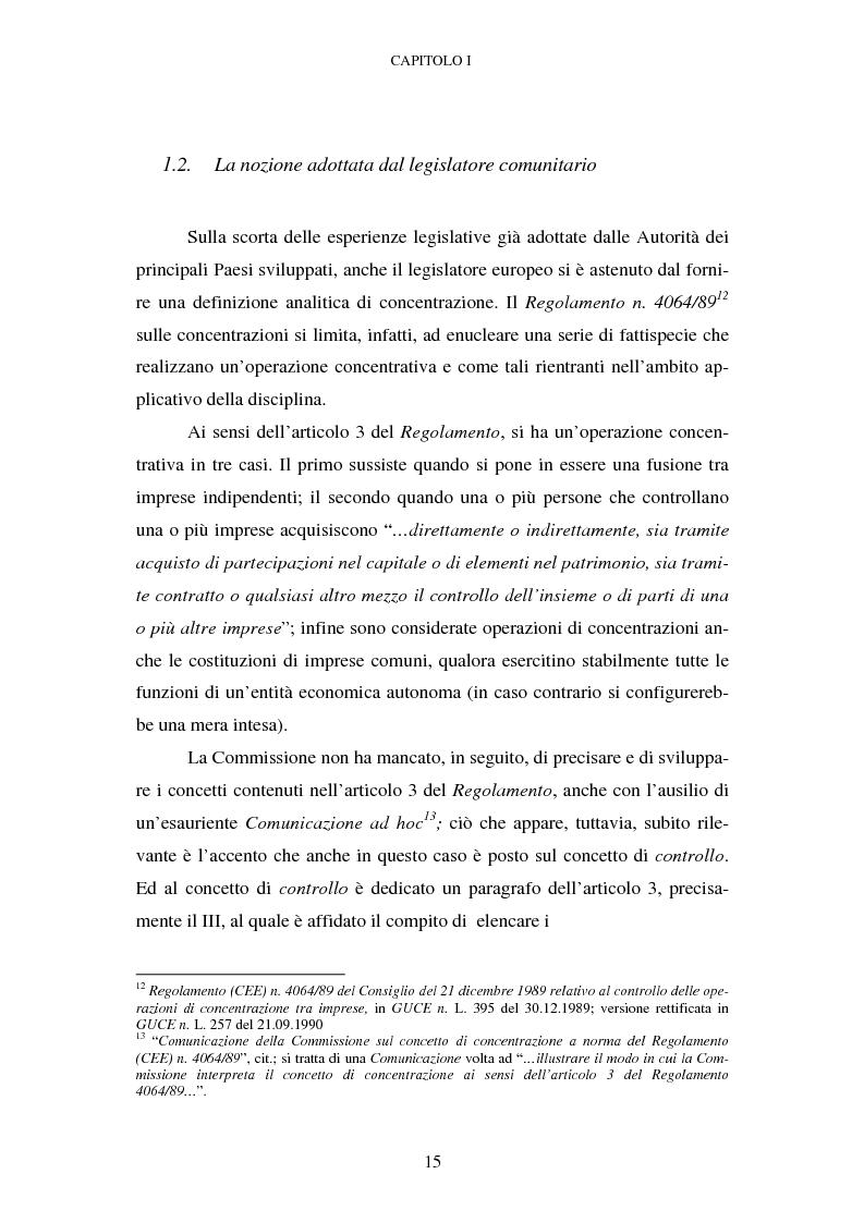 Anteprima della tesi: Evoluzione recente e prospettive di riforma della disciplina comunitaria delle concentrazioni orizzontali, Pagina 9