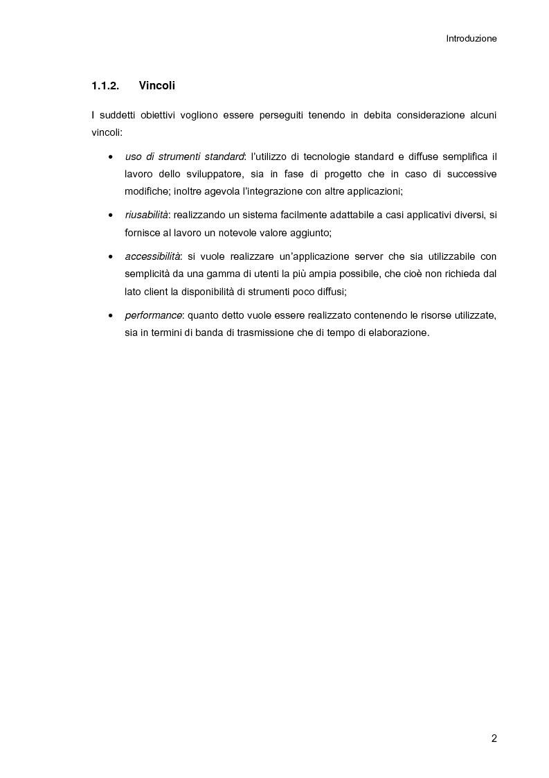 Anteprima della tesi: Ambiente integrato per l'accesso sicuro a basi di dati con tecnologie Java e XML, Pagina 2
