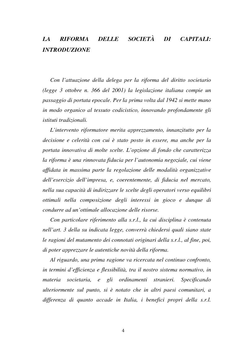 Anteprima della tesi: L'emissione di titoli di debito nella ''nuova'' srl, Pagina 1