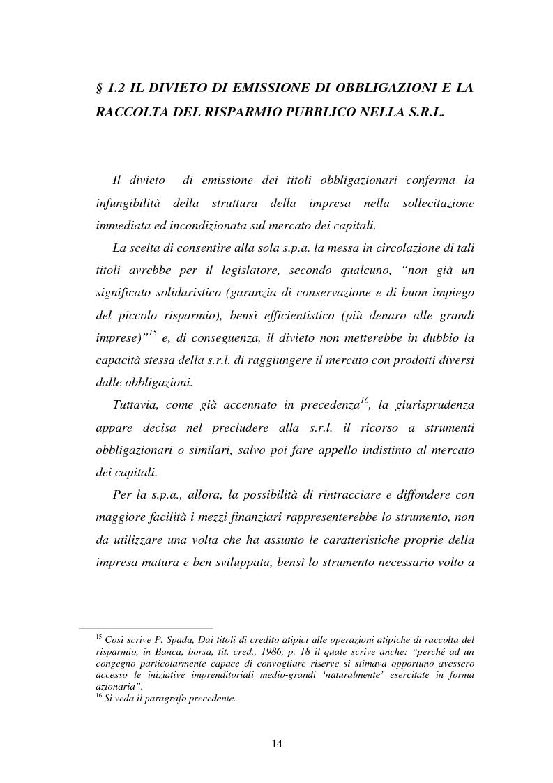 Anteprima della tesi: L'emissione di titoli di debito nella ''nuova'' srl, Pagina 11