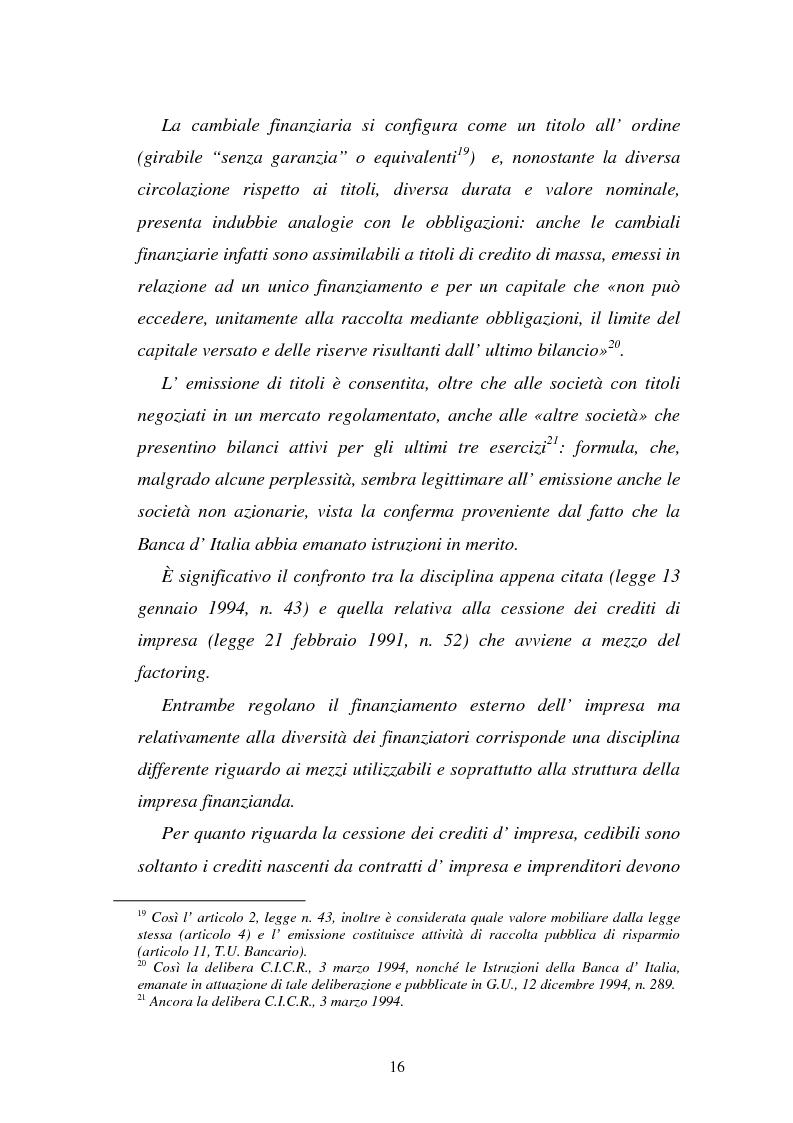 Anteprima della tesi: L'emissione di titoli di debito nella ''nuova'' srl, Pagina 13