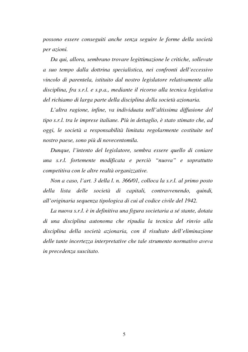 Anteprima della tesi: L'emissione di titoli di debito nella ''nuova'' srl, Pagina 2