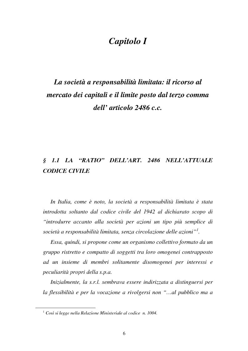 Anteprima della tesi: L'emissione di titoli di debito nella ''nuova'' srl, Pagina 3
