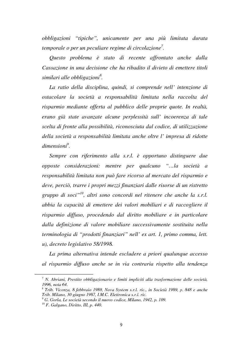 Anteprima della tesi: L'emissione di titoli di debito nella ''nuova'' srl, Pagina 6