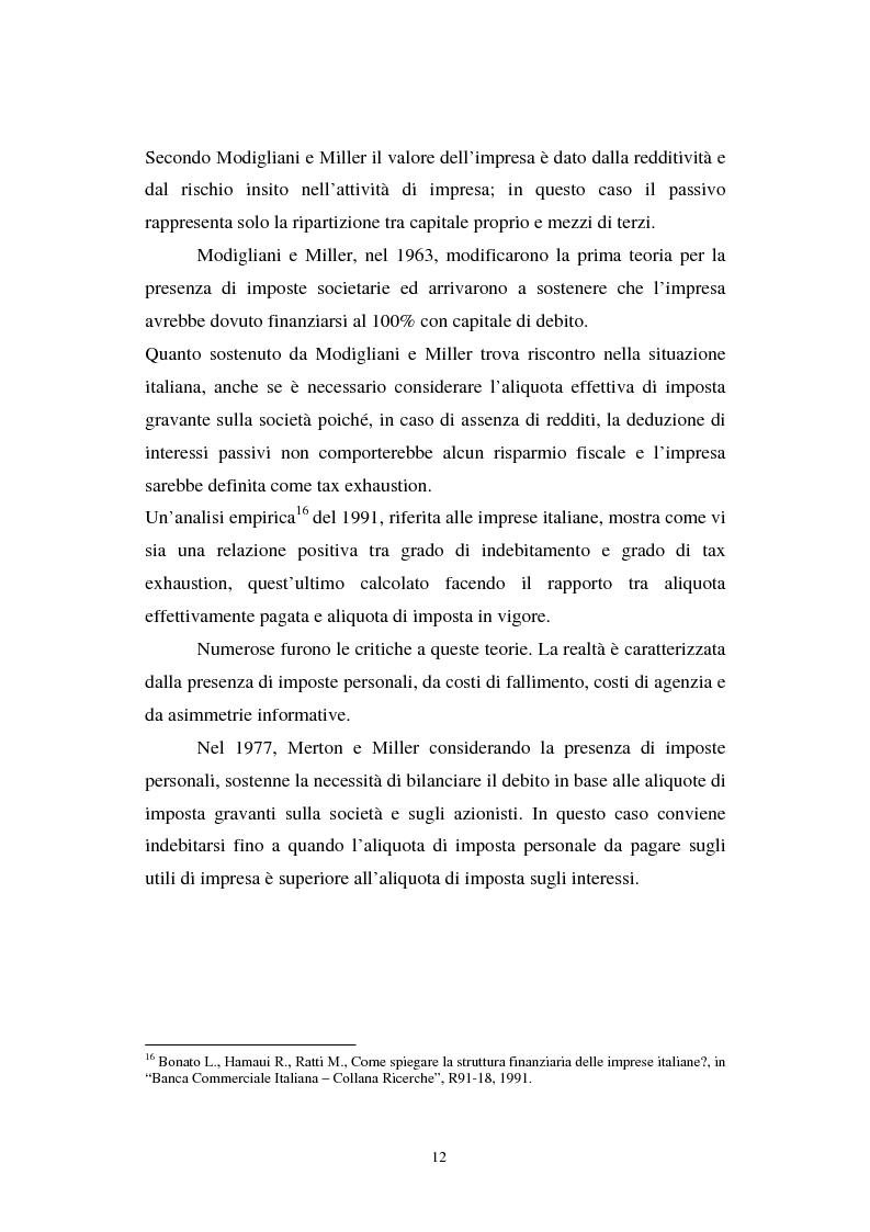 Anteprima della tesi: Gli effetti di Basilea II sulle piccole e medie imprese, Pagina 12
