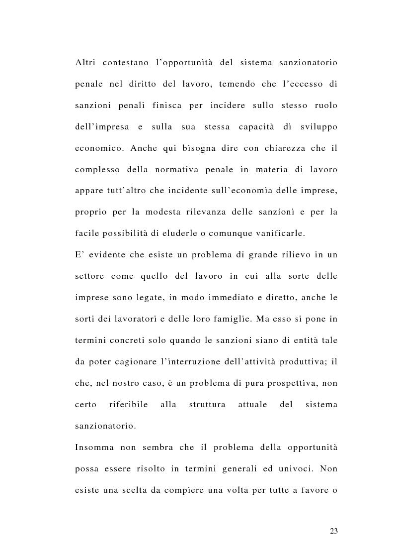 Anteprima della tesi: Le sanzioni penali ed amministrative nel diritto del lavoro, Pagina 10
