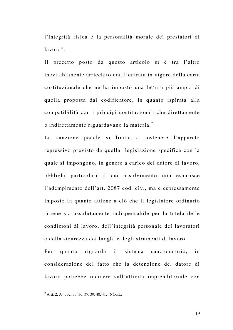 Anteprima della tesi: Le sanzioni penali ed amministrative nel diritto del lavoro, Pagina 6