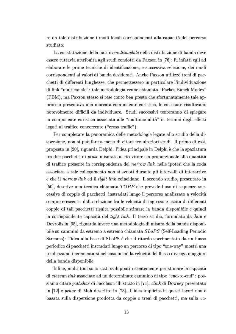 Anteprima della tesi: Tecniche di stima delle risorse di rete per servizi differenziati, Pagina 11