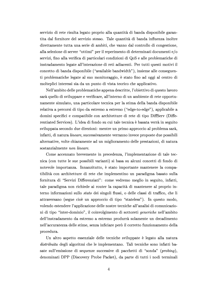 Anteprima della tesi: Tecniche di stima delle risorse di rete per servizi differenziati, Pagina 2