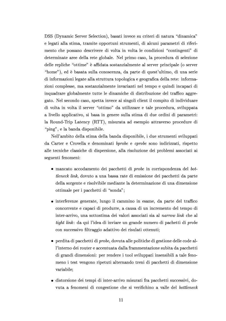 Anteprima della tesi: Tecniche di stima delle risorse di rete per servizi differenziati, Pagina 9