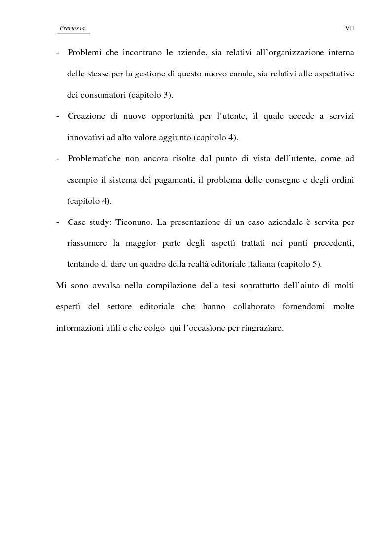 Anteprima della tesi: Editoria on-line: dall'informazione al commercio, limiti attuali e prospettive future, Pagina 2