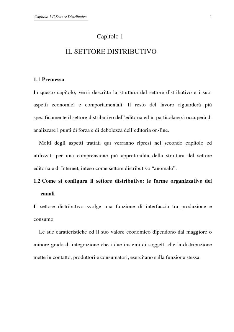 Anteprima della tesi: Editoria on-line: dall'informazione al commercio, limiti attuali e prospettive future, Pagina 3