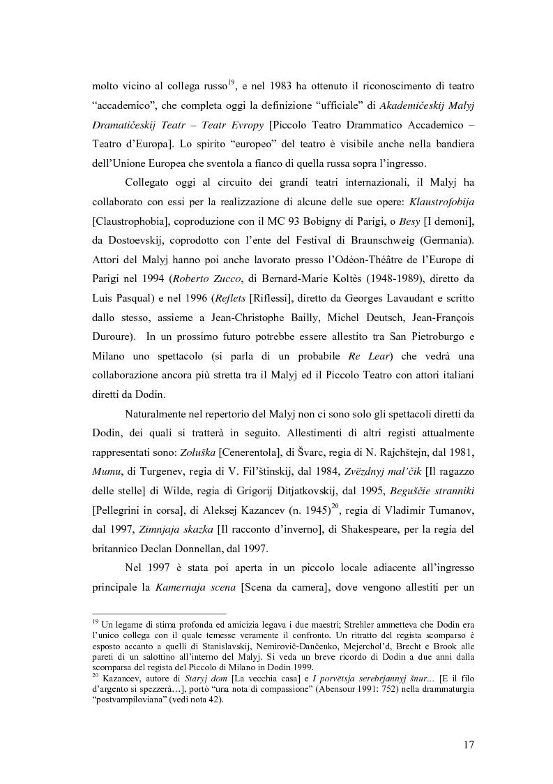 Anteprima della tesi: Il Malyj Dramaticeskij Teatr di Pietroburgo, Lev Dodin e ''Gaudeamus'': storia di un'avventura teatrale, Pagina 12
