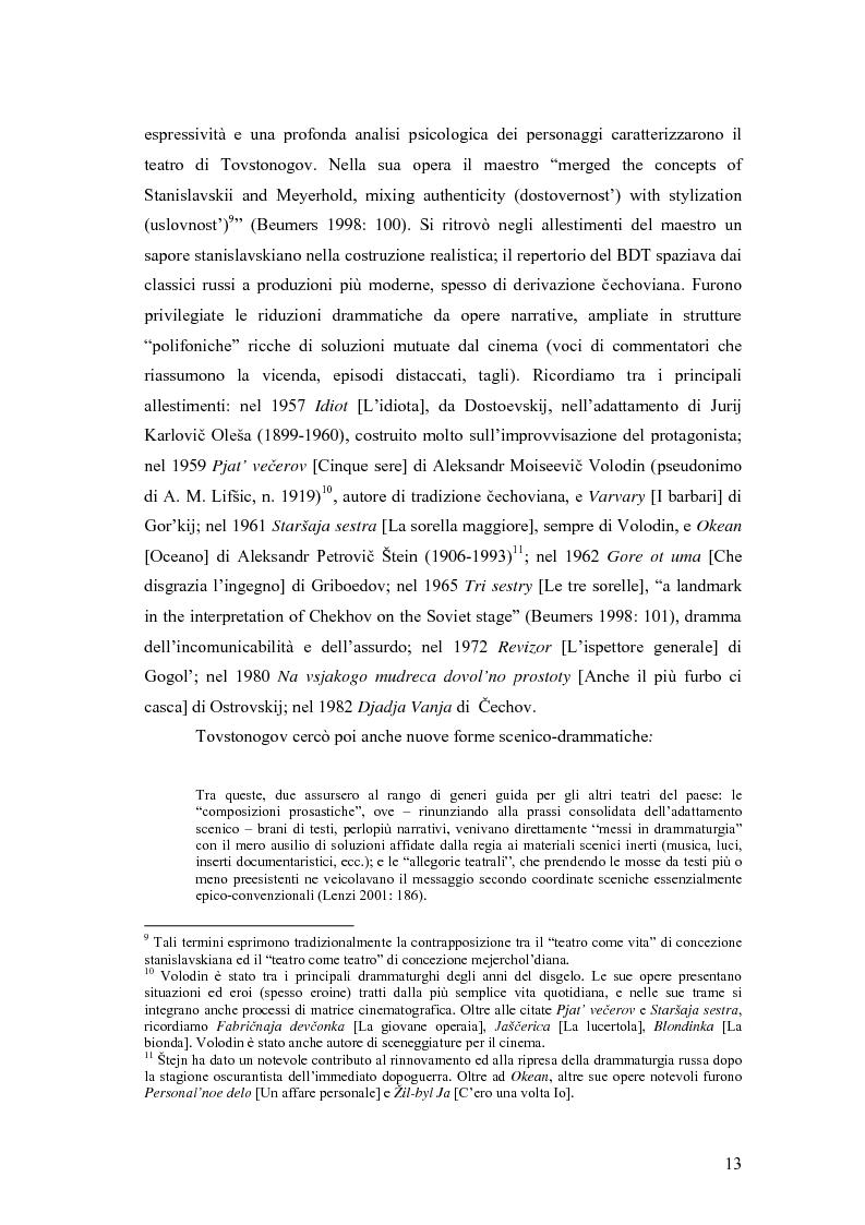 Anteprima della tesi: Il Malyj Dramaticeskij Teatr di Pietroburgo, Lev Dodin e ''Gaudeamus'': storia di un'avventura teatrale, Pagina 8