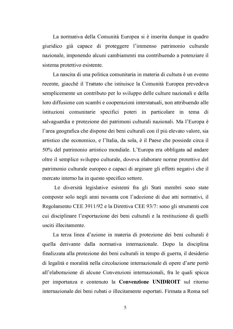 Anteprima della tesi: La disciplina dell'Unione europea sulla tutela dei beni culturali, Pagina 2