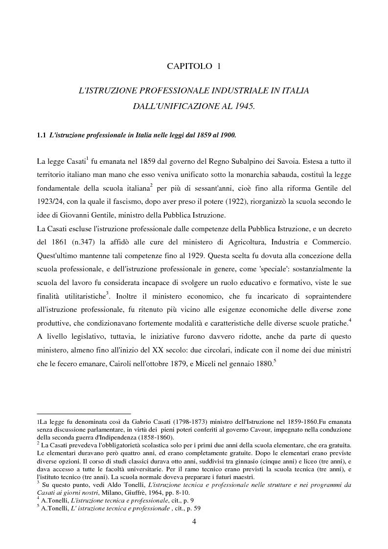 Anteprima della tesi: La Scuola Apprendisti della Dalmine S.A. dal 1937 al 1948, Pagina 4