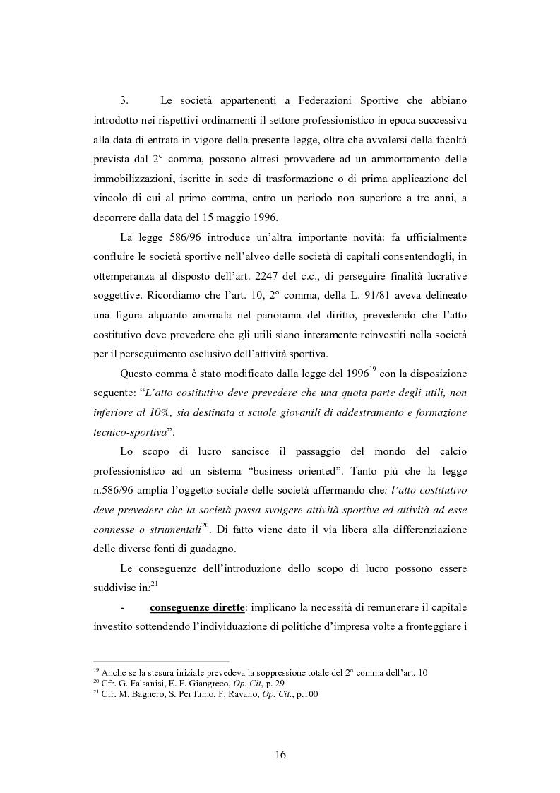 Anteprima della tesi: Problematiche contabili e di bilancio delle società calcistiche, Pagina 13