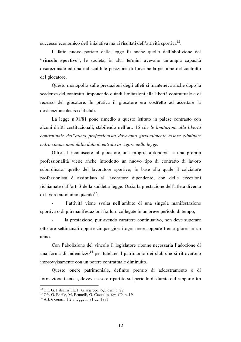 Anteprima della tesi: Problematiche contabili e di bilancio delle società calcistiche, Pagina 9