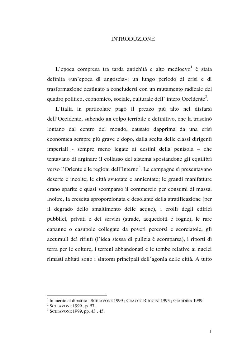 Anteprima della tesi: Sepolture tardoantiche e altomedievali nelle Puglia centro-settentrionale, Pagina 1