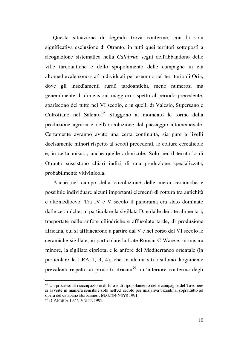Anteprima della tesi: Sepolture tardoantiche e altomedievali nelle Puglia centro-settentrionale, Pagina 10