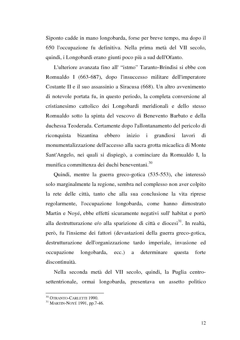 Anteprima della tesi: Sepolture tardoantiche e altomedievali nelle Puglia centro-settentrionale, Pagina 12