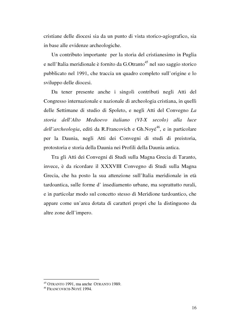 Anteprima della tesi: Sepolture tardoantiche e altomedievali nelle Puglia centro-settentrionale, Pagina 16