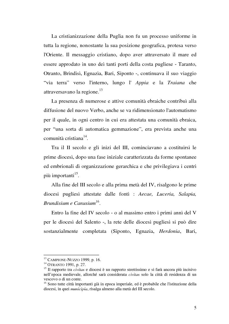Anteprima della tesi: Sepolture tardoantiche e altomedievali nelle Puglia centro-settentrionale, Pagina 5