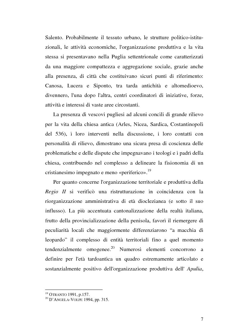 Anteprima della tesi: Sepolture tardoantiche e altomedievali nelle Puglia centro-settentrionale, Pagina 7