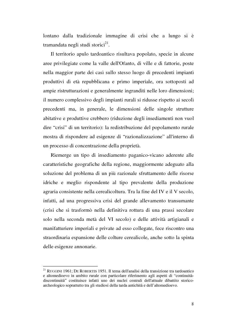 Anteprima della tesi: Sepolture tardoantiche e altomedievali nelle Puglia centro-settentrionale, Pagina 8