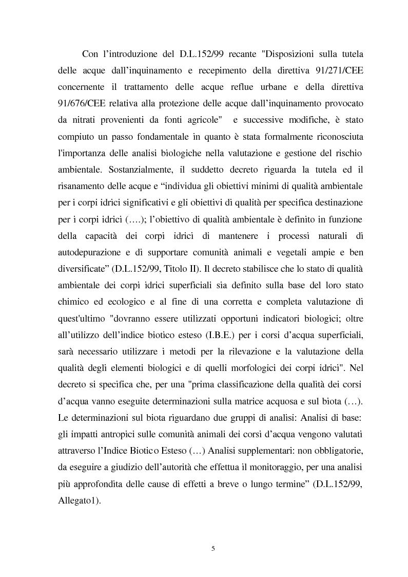 Anteprima della tesi: Valutazione dello stato fisiologico di organismi sentinella (Tapes Philippinarum e Mytilus Galloprovincialis) mediante l'uso di biomarkers, Pagina 5