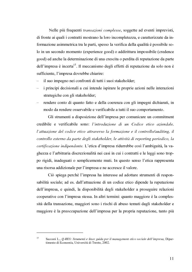 Anteprima della tesi: Il bilancio di sostenibilità: il caso Granarolo, Pagina 13