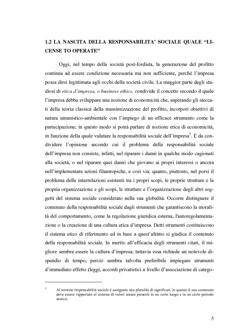 Anteprima della tesi: Il bilancio di sostenibilità: il caso Granarolo, Pagina 7