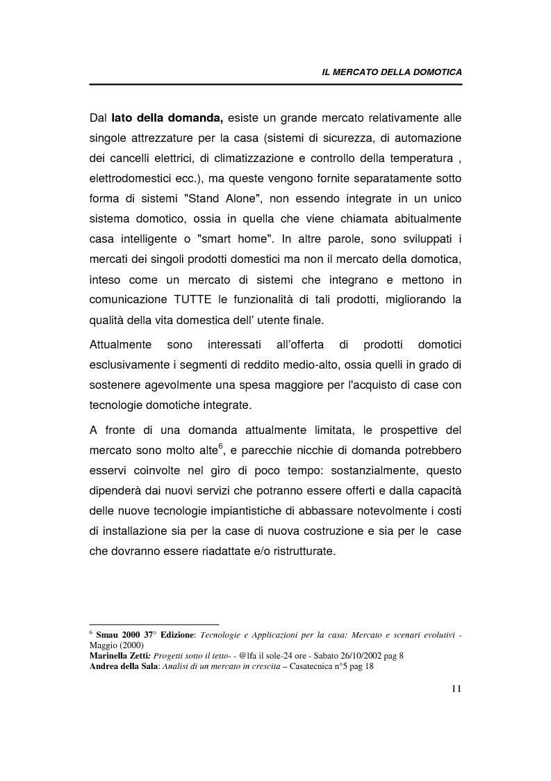 Anteprima della tesi: Relazioni interorganizzative e problematiche connesse allo sviluppo di uno standard tecnologico nel business della domotica: caso Bticino, Pagina 11