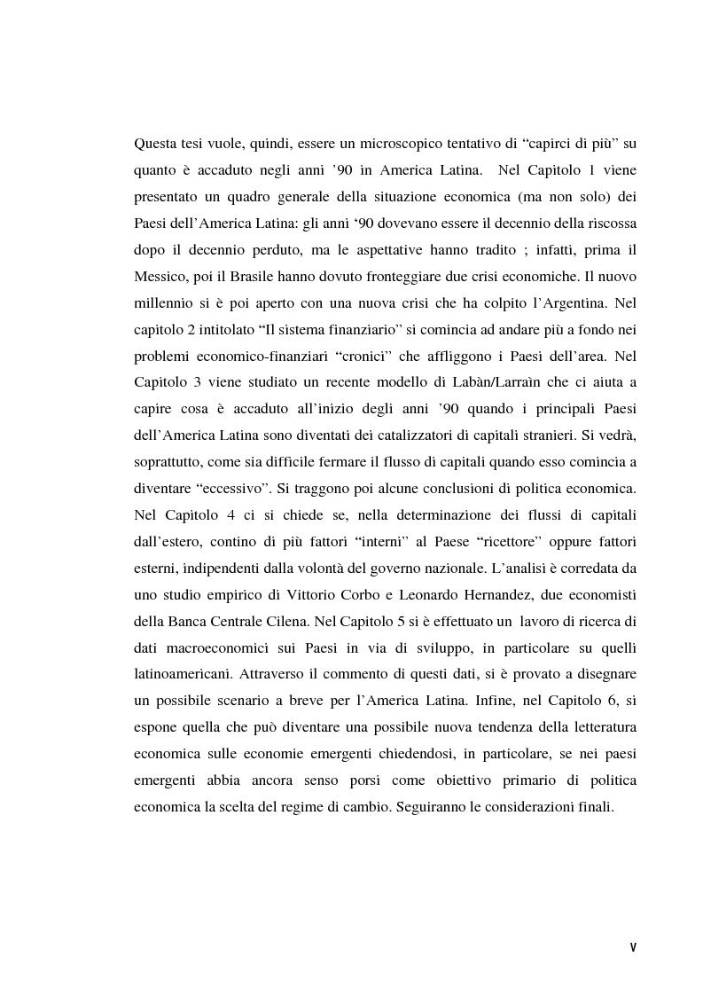 Anteprima della tesi: La ciclicità delle crisi finanziarie in America Latina, Pagina 5