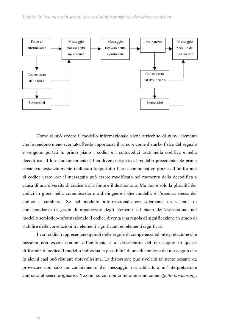Anteprima della tesi: I fatti e la loro messa in scena: due casi di informazione televisiva a confronto, Pagina 10