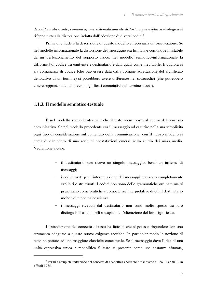 Anteprima della tesi: I fatti e la loro messa in scena: due casi di informazione televisiva a confronto, Pagina 11