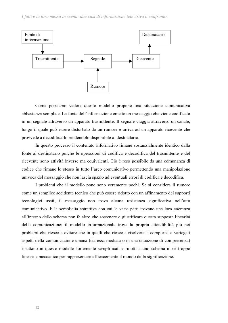 Anteprima della tesi: I fatti e la loro messa in scena: due casi di informazione televisiva a confronto, Pagina 8