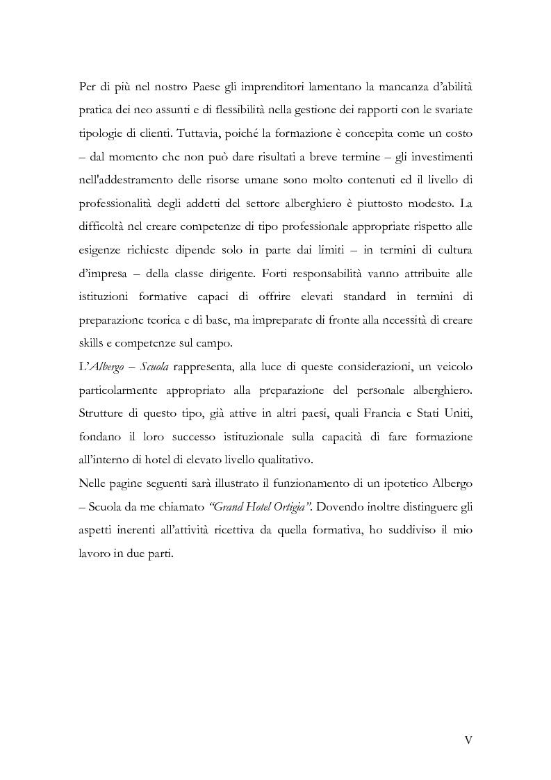 Anteprima della tesi: Una proposta di formazione attiva in ambito ricettivo, Pagina 3