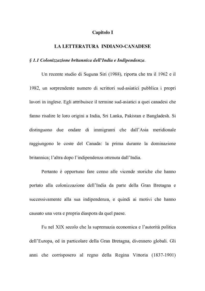 Anteprima della tesi: Rohinton Mistry: un'analisi di Such a Long Journey, Pagina 3