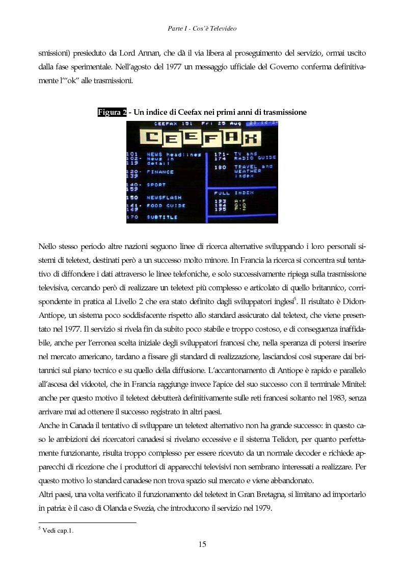 Anteprima della tesi: Il giornale elettronico: informazione e cronaca sul Televideo, Pagina 12