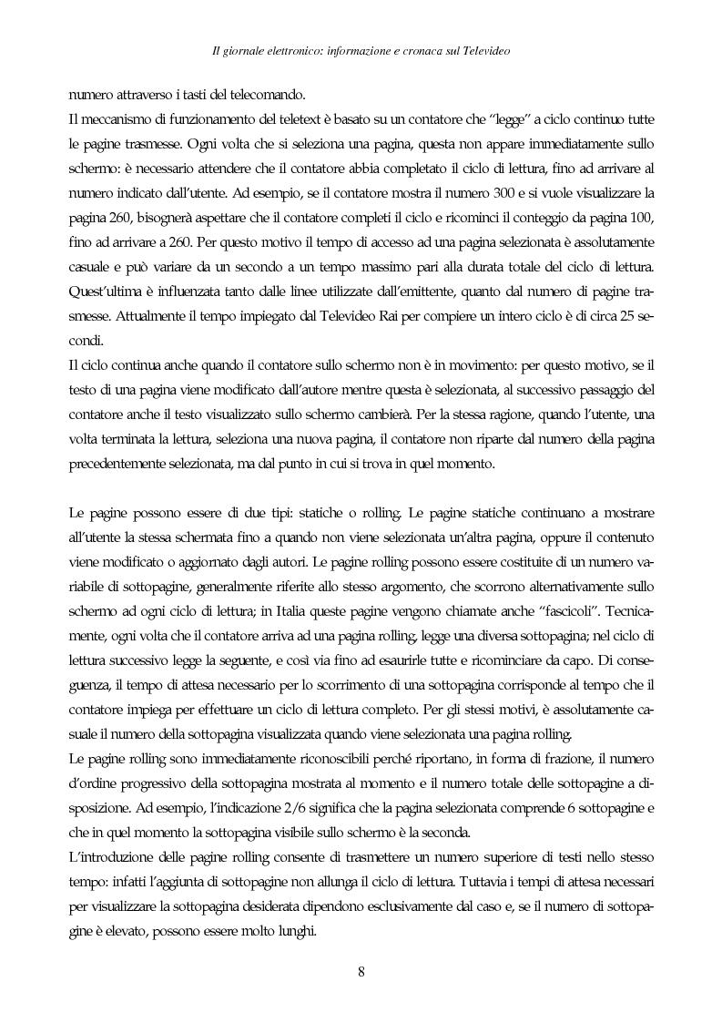 Anteprima della tesi: Il giornale elettronico: informazione e cronaca sul Televideo, Pagina 5
