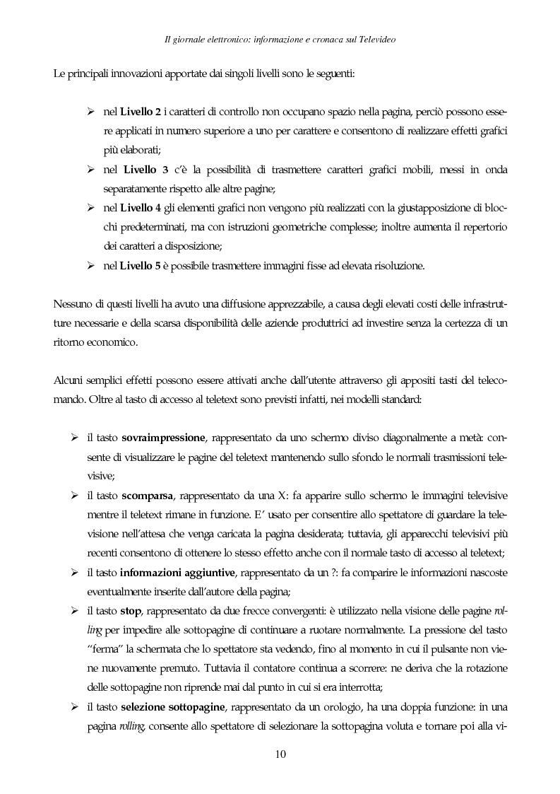 Anteprima della tesi: Il giornale elettronico: informazione e cronaca sul Televideo, Pagina 7