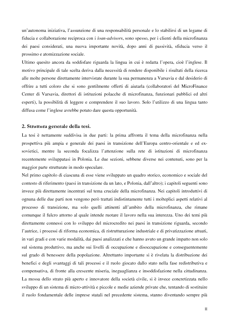 Anteprima della tesi: La microfinanza nei paesi post-comunisti: il caso della Polonia, Pagina 2