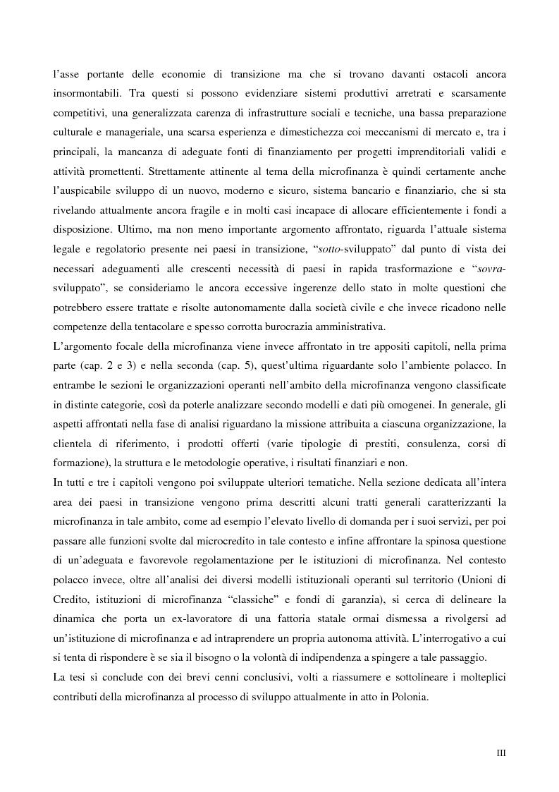 Anteprima della tesi: La microfinanza nei paesi post-comunisti: il caso della Polonia, Pagina 3