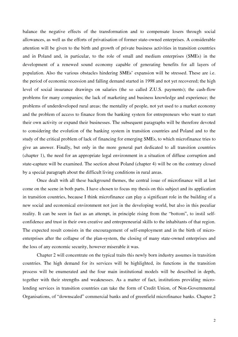 Anteprima della tesi: La microfinanza nei paesi post-comunisti: il caso della Polonia, Pagina 9