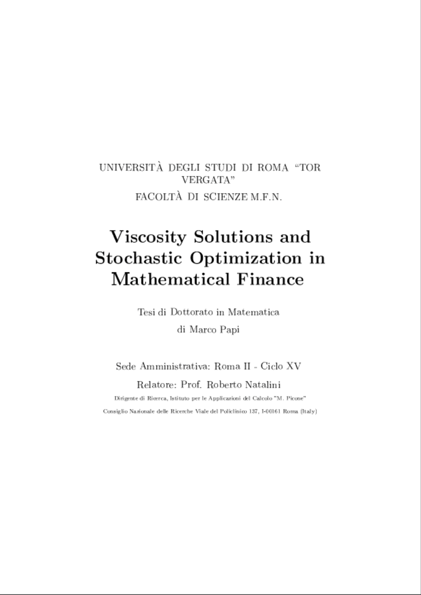 mathematical solutions for finance Financial math lessons related pages learn the math behind your money the world of finance is literally full of mathematical models, formulas, and systems.