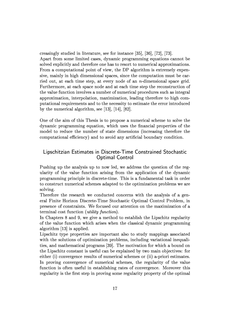 Anteprima della tesi: Viscosity Solutions and Optimization in Mathematical Finance, Pagina 14